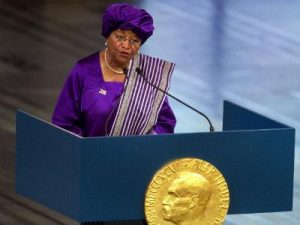 president-ellen-johnson-sirleaf-accepts-nobel-prize (Liberia's Sirleaf: the burden of leadership)
