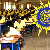 waec students take final exam