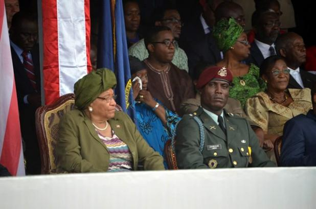 As one of Liberia's powerful men, controls the Liberian army