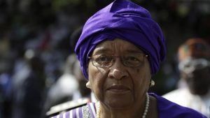 "She denied accusations her son Robert Sirleaf was in any way implicated in the collapse of Liberia's National Oil Company, and said her other son, Charles Sirleaf who was arrested in March, was ""illegally charged"" over allegations he unlawfully printed local currency worth tens of millions of dollars."