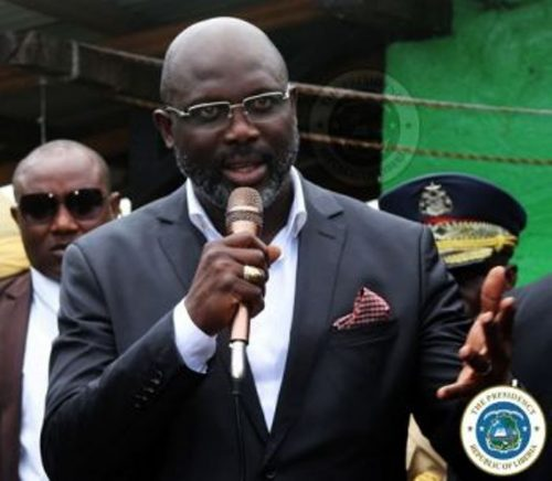 """Weah: """"What was damaged during the 14 years of civil war,"""" he said, """"cannot be fixed in a day's time. This government is focused on rehabilitating Liberians whose lives were damaged. I want you not to join those who are undermining the country through protests. Join me to rebuild the country."""" As part of his development plans, President Weah said the government was exerting efforts to change the lives of Liberians, by building concrete homes in place of the huts they have been living in over so many decades."""