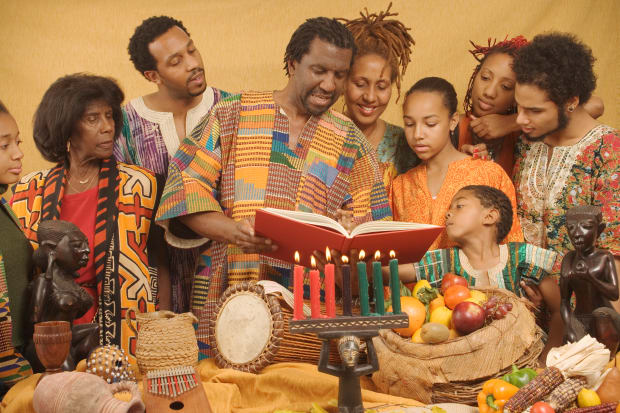 """Gifts are exchanged. On 31 December participants celebrate with a banquet of food often cuisine from various African countries. Participants greet one another with """"Habari gani"""" which is Kiswahili for """"how are you/ how's the news with you?"""" For further information about Kwanzaa, write to the University of Sankore Press, 2540 W. 54th St., Los Angeles, CA 90043. A children's book about KWANSA by Deborah Newton Chocolate is available through Childrens' Press, 1990, Chicago. Culled -Akwansosem is an outreach newsletter"""