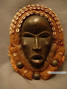 """""""The Grebo of the Ivory Coast and Liberia carve masks with round eyes to represent alertness and anger, with the straight nose to represent unwillingness to retreat. The Senoufo people of the Ivory Coast represent tranquility by making masks with eyes half-shut and lines drawn near the mouth. The Temne of Sierra Leone use masks with small eyes and mouths to represent humility and humbleness. They represent wisdom by making bulging forehead. Other masks that have exaggerated long faces and broad foreheads symbolize the soberness of one's duty that comes with power."""".4."""