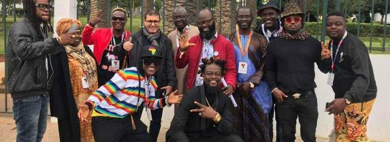 Altogether there were more than 1000 professionals from 70 countries, 25 of which came from Africa. Among the 25 countries was Liberia represented by group of leading Liberian artists such as Takun J, DanG, Nigga Blow, Tantan and others. Though these Liberian artists are individual solo artists who are well known in Liberia, they came together as one group to perform at the event in Morocco.