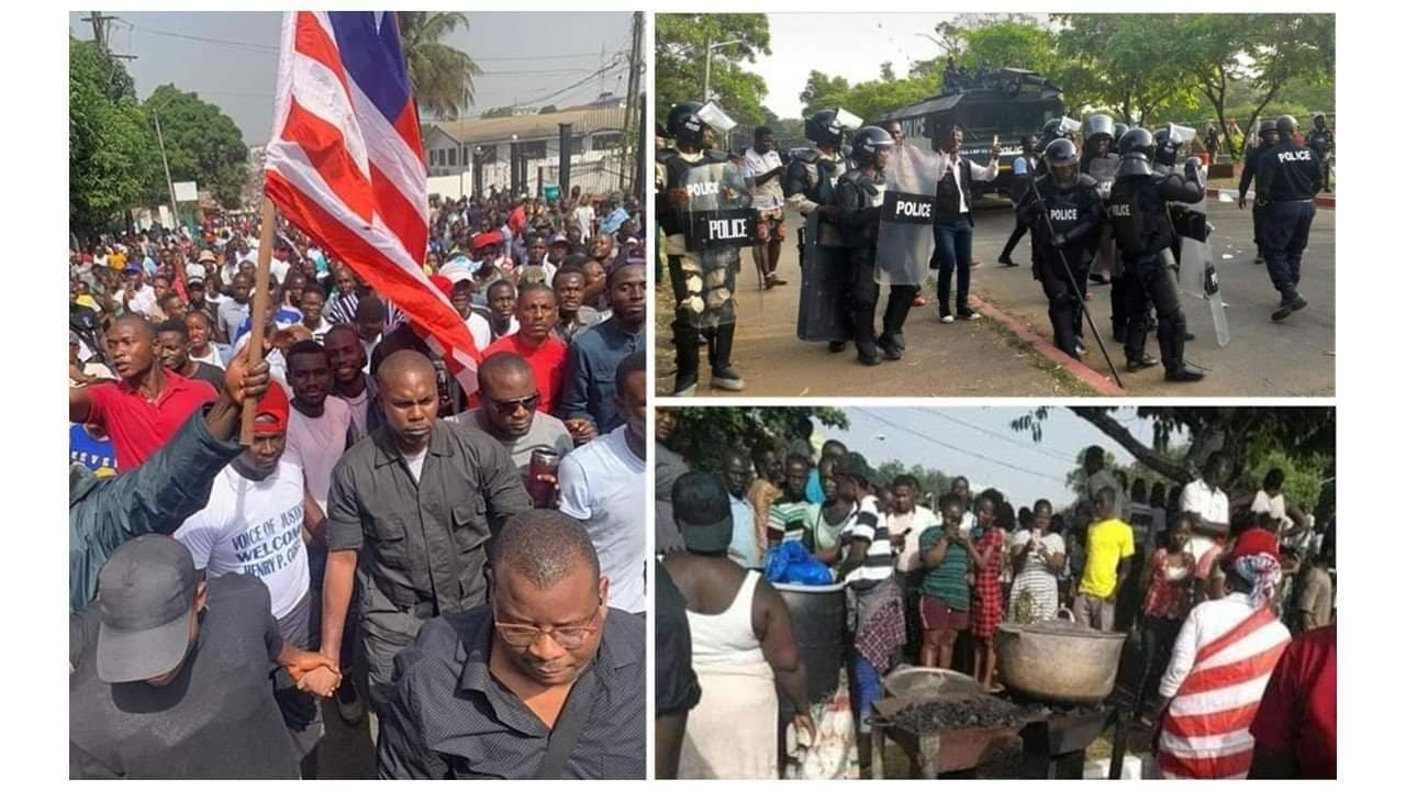 In Liberia, just as in many African countries, it is customary for street vendors to sell food prepared with safe fire-grill or charcoal-pots on various public street side-walks. This has never been considered as a violation of any public or city ordinance. It is in similar light that some protesters outside the capitol building had begun preparing food and snacks, when armed police forcefully disperse the protesters with tear gas and high power water cannons. Several protesters were wounded, including women and children who were bystanders.