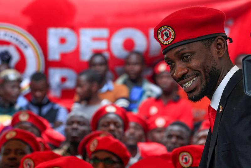 """Bobby Wine The next batch of results was due to be released at 9 pm when a nationwide curfew in place since March due to the COVID-19 pandemic kicks in. Bobi Wine, the 38-year-old former musician-turned politician has emerged as the main challenger to 76-year-old Museveni, who has been in power since 1986. """"We secured a comfortable victory,"""" Bobi Wine told reporters in Kampala, the capital. """"I am very confident that we defeated the dictator by far,"""" Bobi Wine, whose real name is Robert Kyagulanyi Ssentamu, said. """"The people of Uganda voted massively for change of leadership from a dictatorship to a democratic government. But Mr. Museveni is trying to paint a picture that he is in the lead. What a joke!"""" he added."""