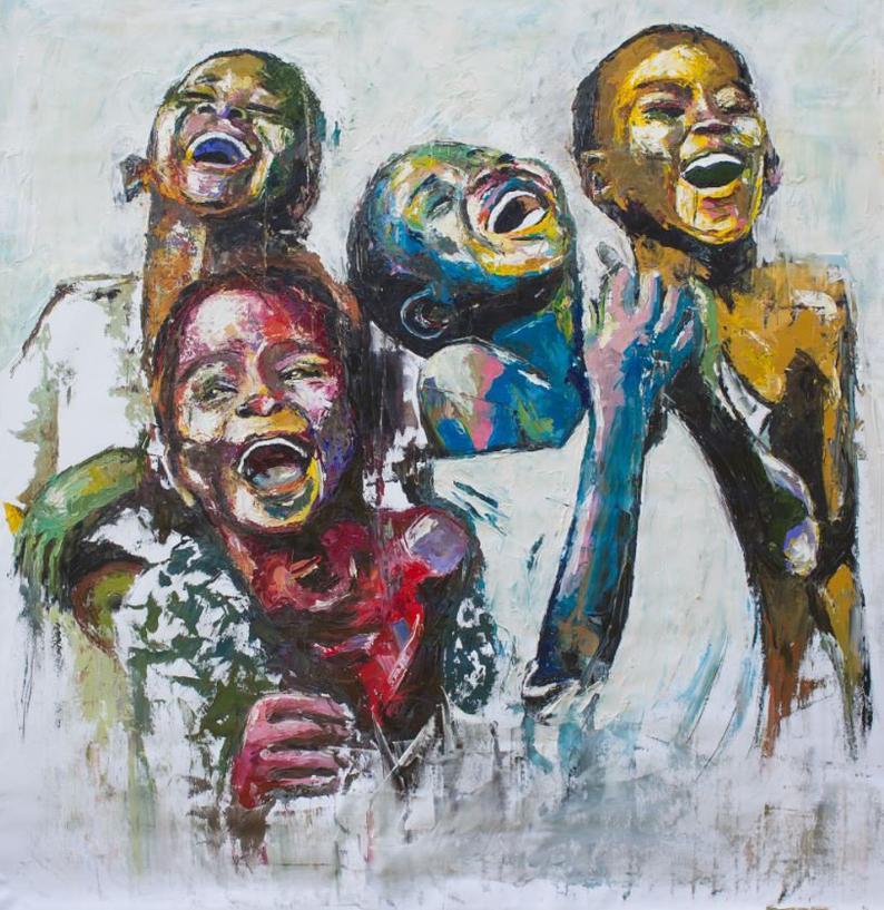 african art shai yossef painting